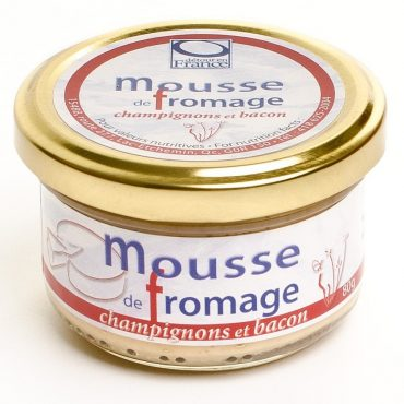 Mousse fromage champignons bacon